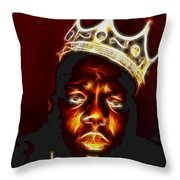 The Notorious B.i.g. - Biggie Smalls Throw Pillow by Paul Ward