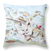 The Novelist Throw Pillow