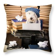 The Novelist Throw Pillow