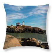 The Nubble 2 Throw Pillow