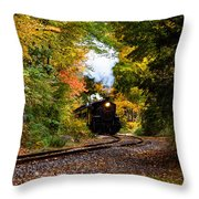 The Number 40 Rounding The Bend Throw Pillow
