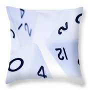 The Numbers Game Throw Pillow