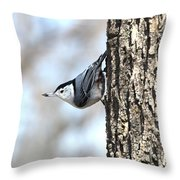 The Nuthatch Throw Pillow