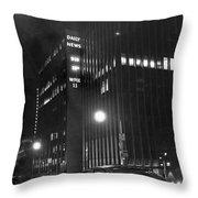 The Ny Daily News Building Throw Pillow