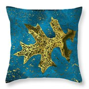 The Oak Leaf And The Wind Storm Throw Pillow