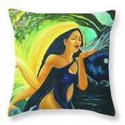 The Oak Queen Throw Pillow