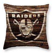 The Oakland Raiders 1e Throw Pillow