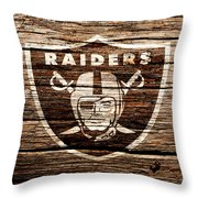 The Oakland Raiders 1f Throw Pillow