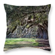 The Oaks At Boone Hall Throw Pillow