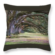 The Oaks Of Oak Alley Plantation Throw Pillow