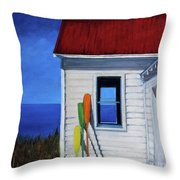 The Oars Throw Pillow