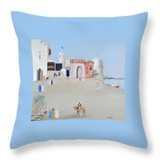 The Oasis North Africa Throw Pillow