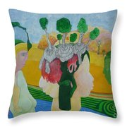 The Oasis Of Desire Throw Pillow