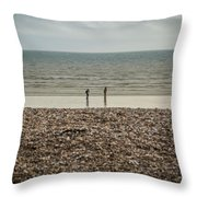 The Ocean Can Make You Feel Small, Bognor Regis, Uk. Throw Pillow