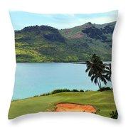 The Ocean Course At Hokuala In Kauai Throw Pillow