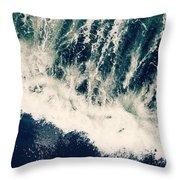 The Ocean Roars Throw Pillow