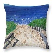 The Ocean View Throw Pillow