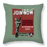 The Office Of Civilian Defense Needs You - Wpa Throw Pillow