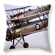 The Old Aircraft Throw Pillow