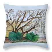 The Old Apricot Tree Throw Pillow