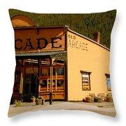 The Old Arcade Throw Pillow