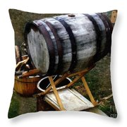 The Old Beer Barrel Throw Pillow