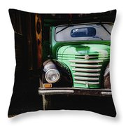 The Old Beer Truck Throw Pillow