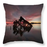 The Old Boat Skeleton Am Throw Pillow