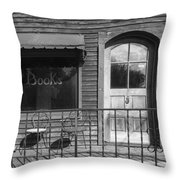 The Old Book Store Throw Pillow
