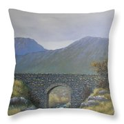 The Old Bridge At Connor Pass Throw Pillow