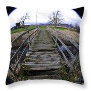 The Old Bridge Throw Pillow