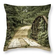 The Old Bridge Throw Pillow