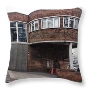The Old Bus Station Throw Pillow