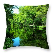 The Old Canal ... Throw Pillow