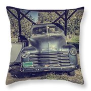 The Old Chevy Vermont Throw Pillow