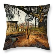 The Old Chicken Lot Throw Pillow