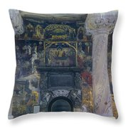 The Old Church - Biserica Veche  Throw Pillow