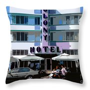The Old Colony Hotel Throw Pillow