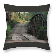 The Old Country Bridge Throw Pillow
