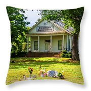 The Old Country Churchyard Throw Pillow