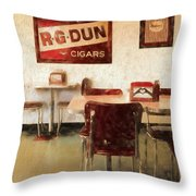 The Old Diner Throw Pillow