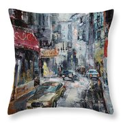 The Old District Throw Pillow