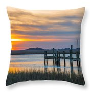 The Old Dock - Charleston Low Country Throw Pillow