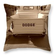 The Old Dodge Throw Pillow