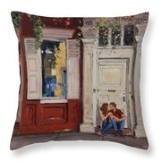 The Old Doorway Throw Pillow