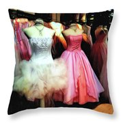 The Old Dress  Shop Throw Pillow