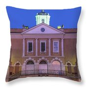 The Old Exchange And Provost Dungeon At Twilight Charleston South Carolina Throw Pillow