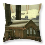 The Old Factory Throw Pillow