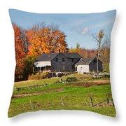 The Old Farm In Autumn Throw Pillow