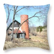 The Old Farm Throw Pillow